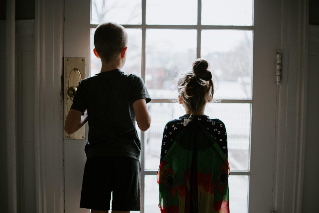 Kids stuck inside on a rainy day