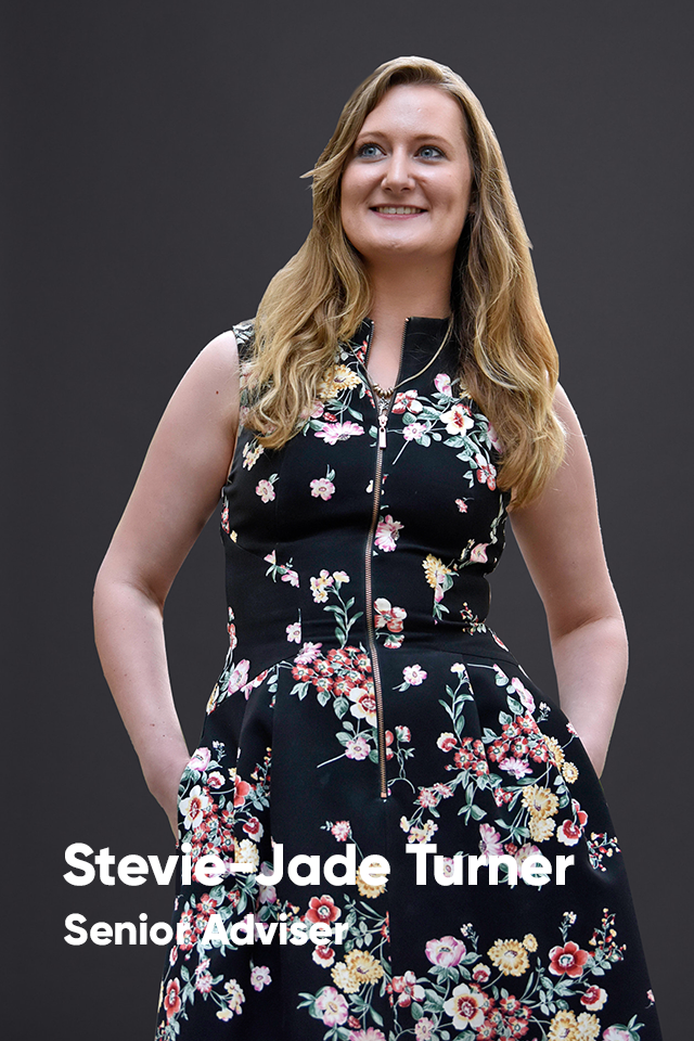 Stevie-Jade turner, senior adviser